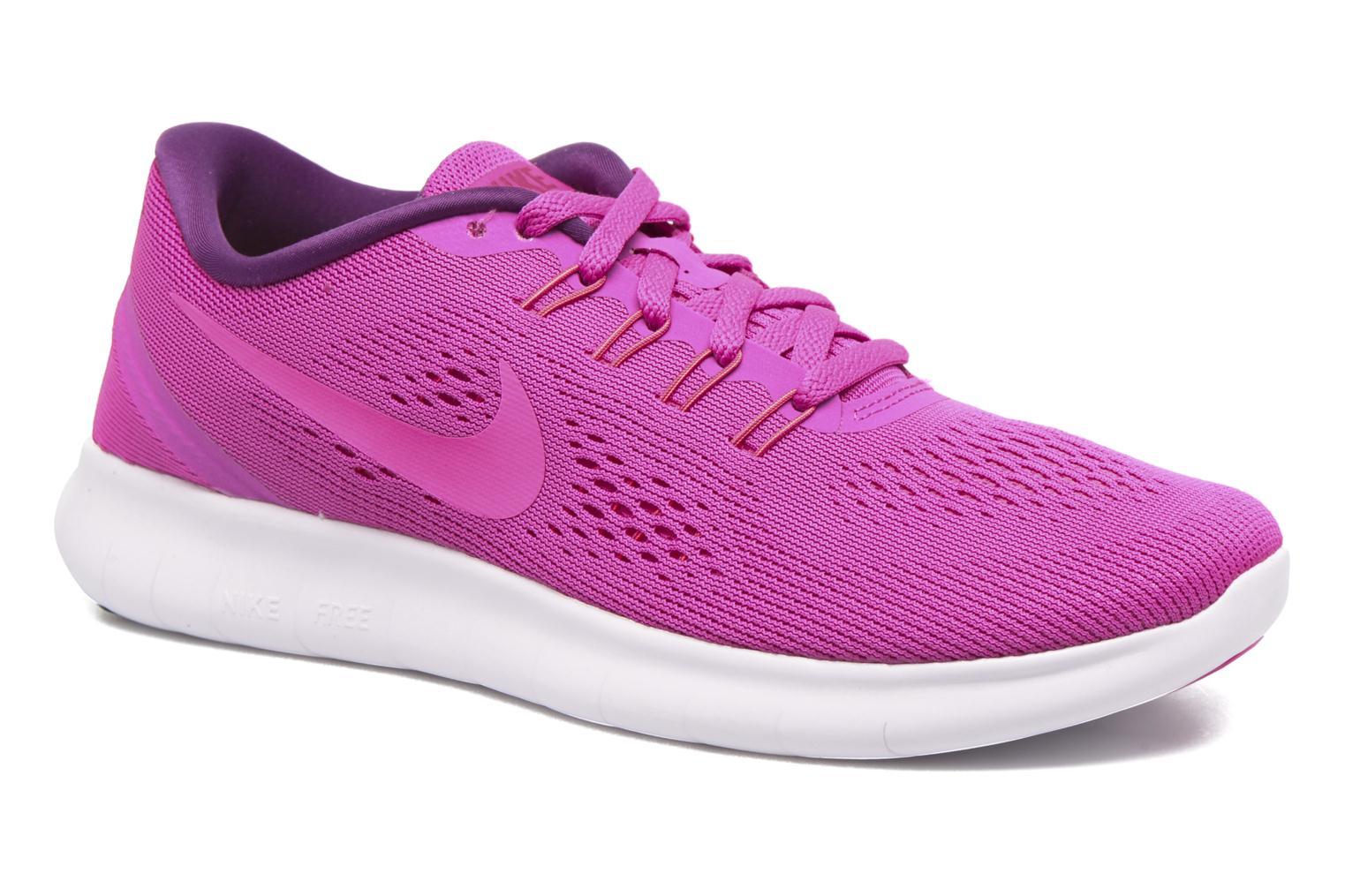 Wmns Nike Free Rn Fire Pink/Pink Blast-Blue Glow