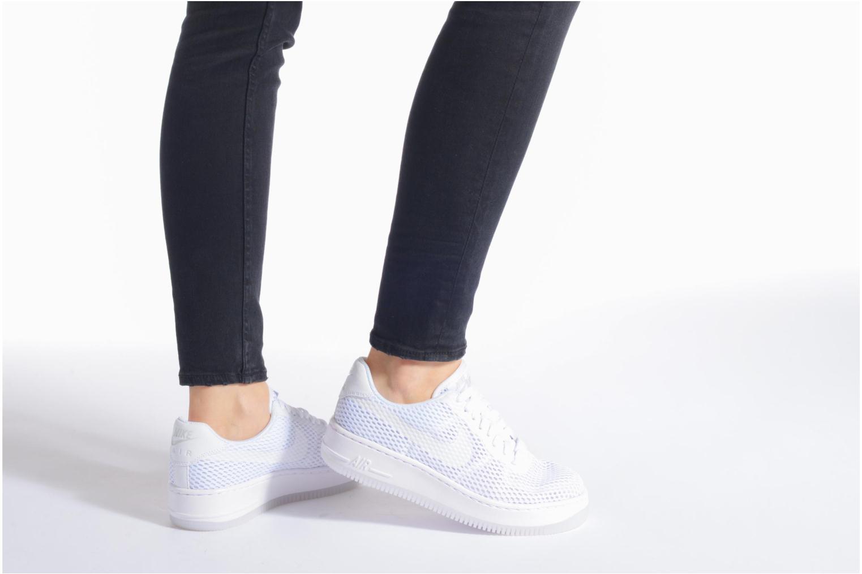 Sneaker Nike W Af1 Low Upstep Br schwarz ansicht von unten / tasche getragen