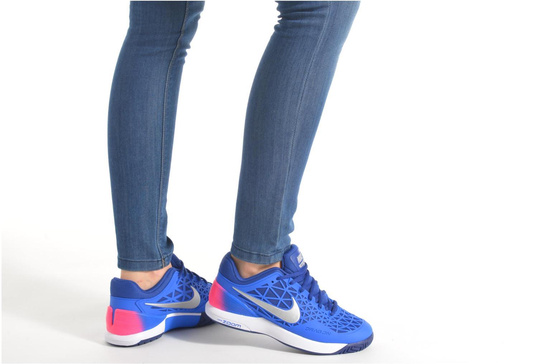 Chaussures de sport Nike Wmns Nike Zoom Cage 2 Eu Bleu vue bas / vue portée sac