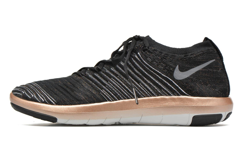 Sportssko Nike Wm Nike Free Transform Flyknit Sort se forfra