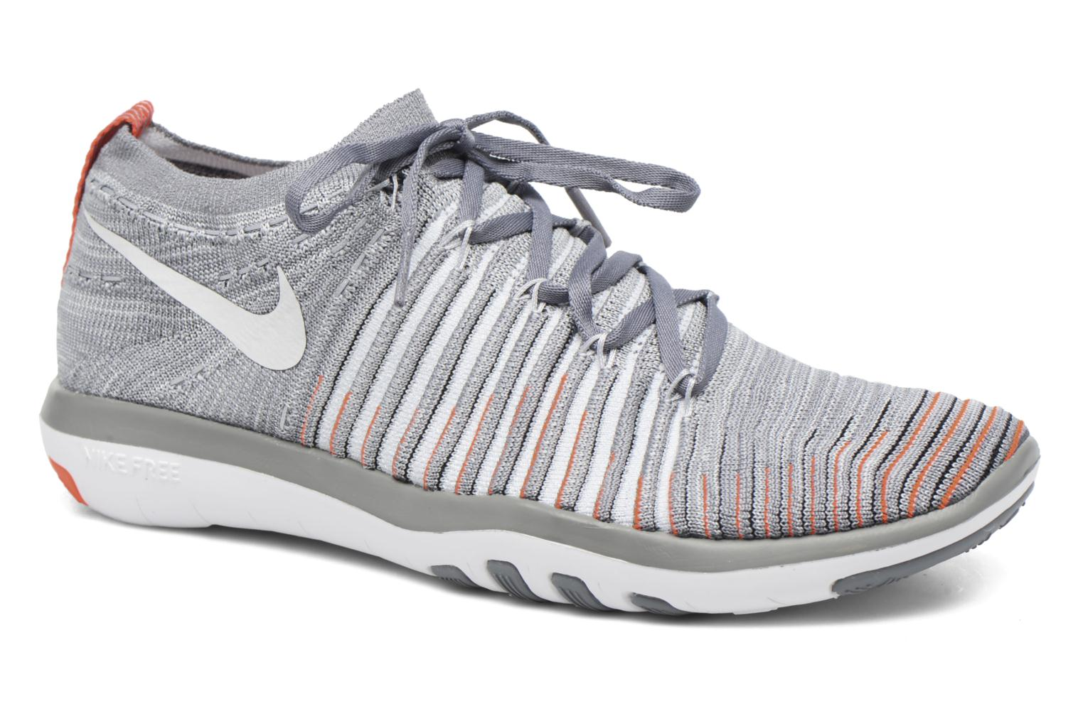Wm Nike Free Transform Flyknit Cool Grey/Pure Platinum-Total Crimson