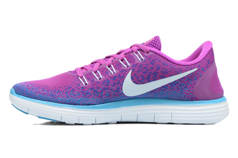 Chaussures de sport Nike Wmns Nike Free Rn Distance Violet vue face