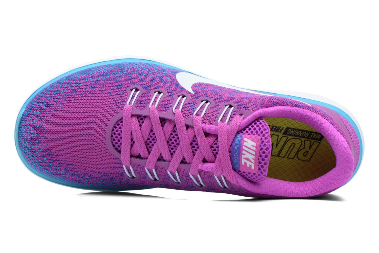 Chaussures de sport Nike Wmns Nike Free Rn Distance Violet vue gauche