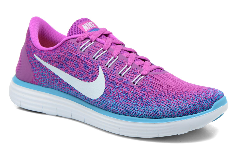 Chaussures de sport Nike Wmns Nike Free Rn Distance Violet vue détail/paire