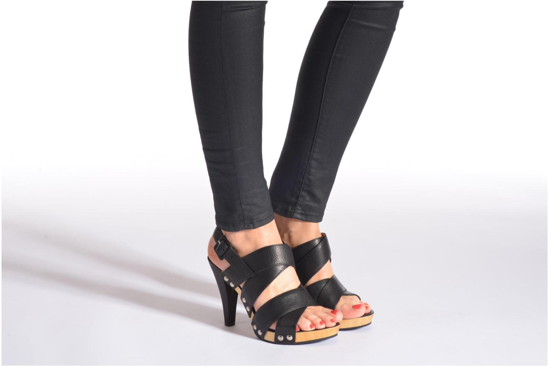 Sandales et nu-pieds Free Lance Farah 7 Sandal Noir vue bas / vue portée sac