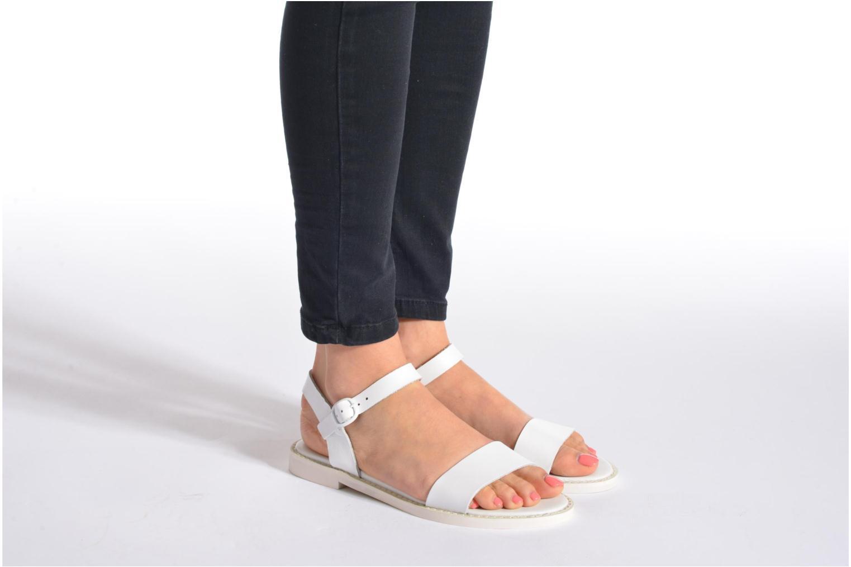 Sandales et nu-pieds Jonak Kelsie Blanc vue bas / vue portée sac