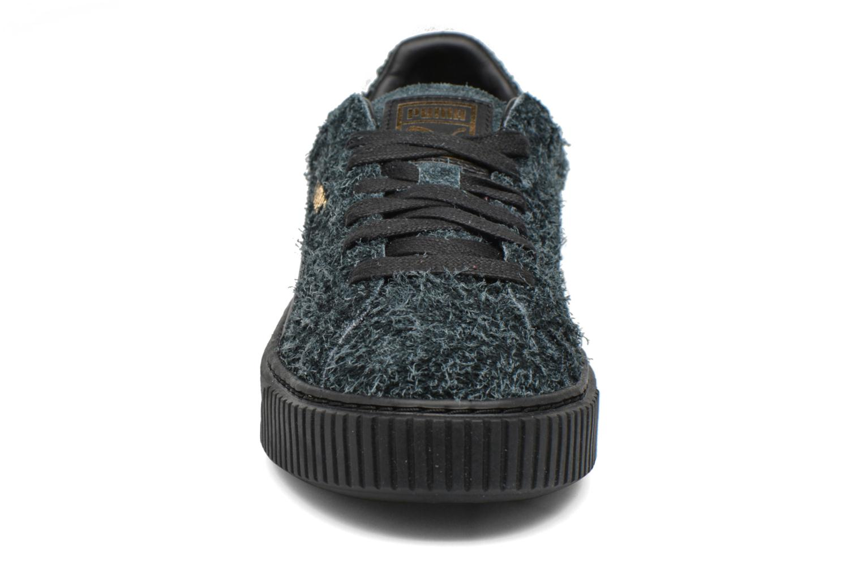 Sneakers Puma Suede Creeper Elemental Nero modello indossato
