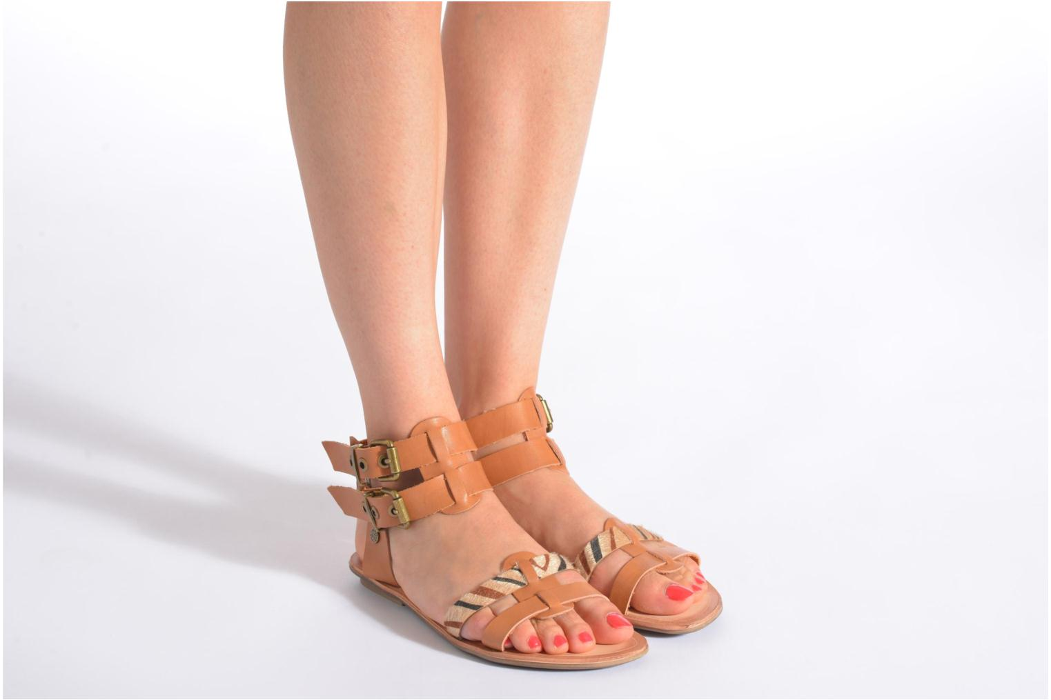 Sandals I Love Shoes Kiro Black view from underneath / model view