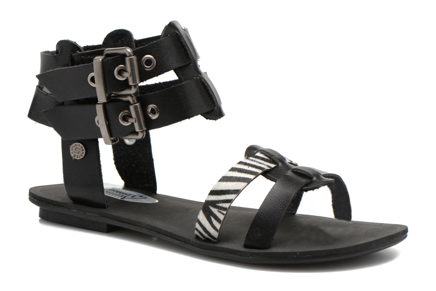 Sandals I Love Shoes Kiro Black detailed view/ Pair view