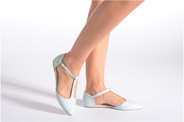 Ballerines I Love Shoes Kiba Noir vue bas / vue portée sac