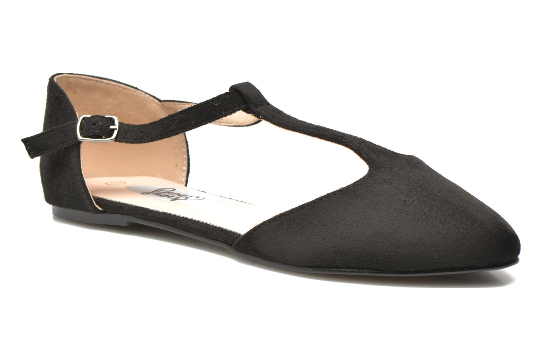 Ballerines I Love Shoes Kiba Noir vue détail/paire