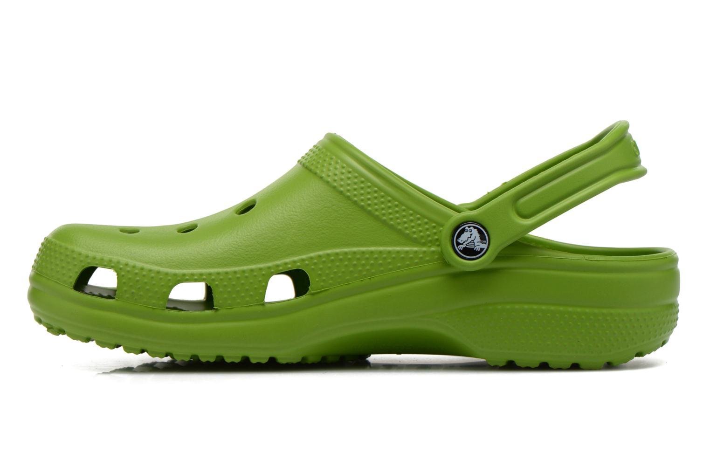 Sandals Crocs Classic H Green front view
