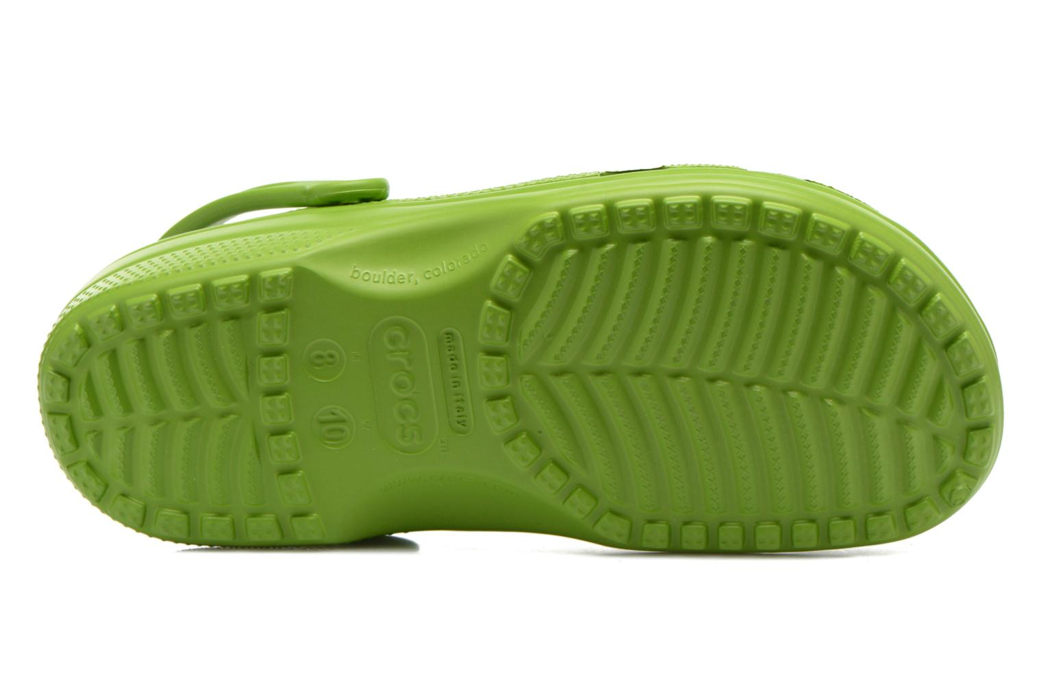 Sandals Crocs Classic H Green view from above