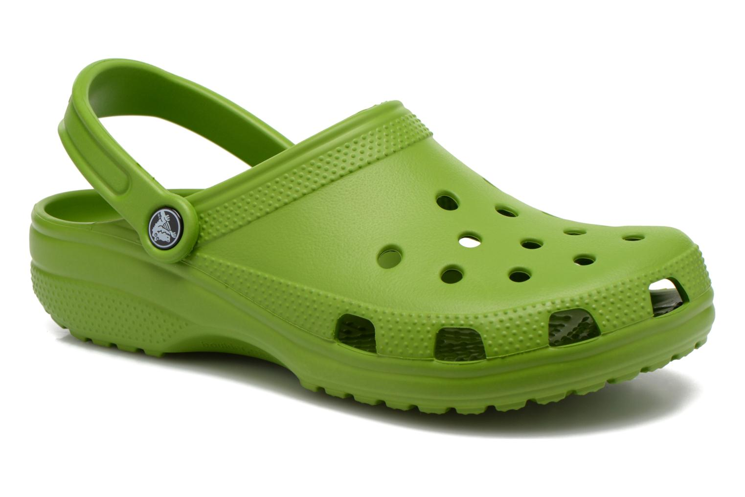 Sandals Crocs Classic H Green detailed view/ Pair view