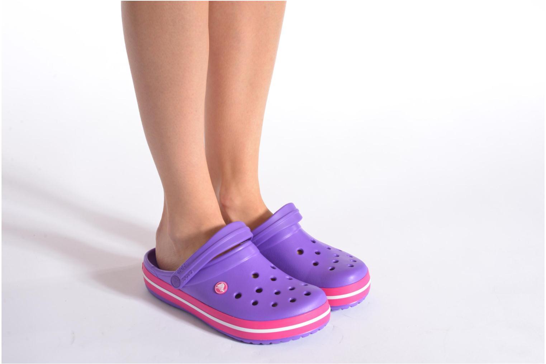 Clogs & Pantoletten Crocs Crocband W weiß ansicht von unten / tasche getragen