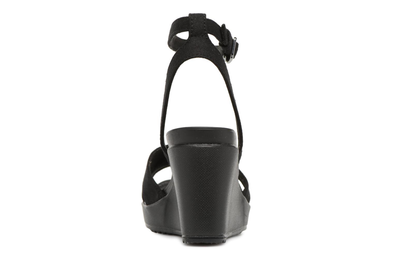Grandes descuentos últimos zapatos Crocs Leigh II Ankle Strap Wedge W (Negro) - Sandalias Descuento