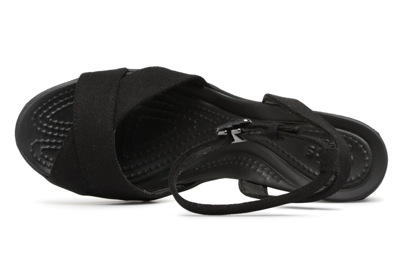 Sandali e scarpe aperte Crocs Leigh II Ankle Strap Wedge W Nero immagine sinistra