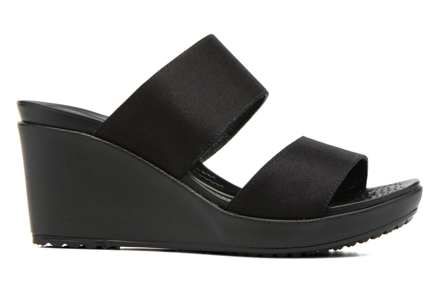 Leigh II 2-strap Wedge W Black/black