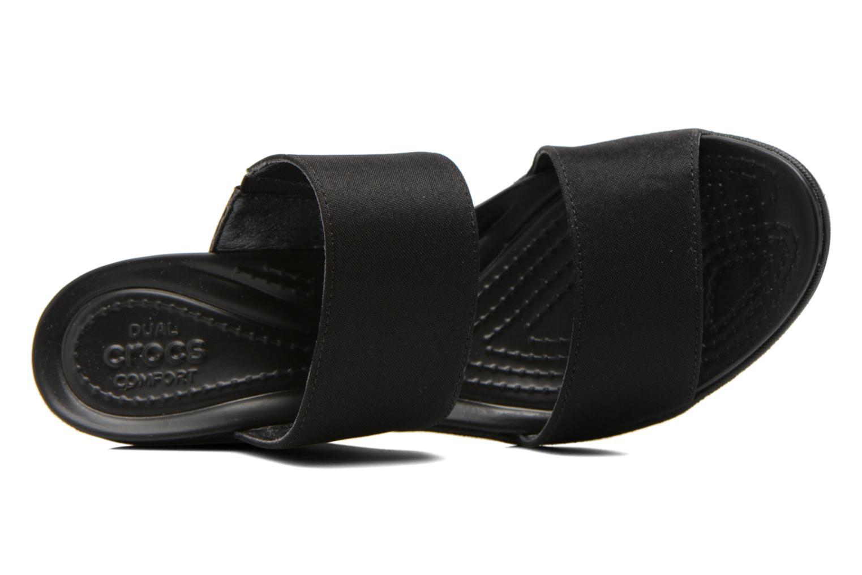 Mules et sabots Crocs Leigh II 2-strap Wedge W Noir vue gauche