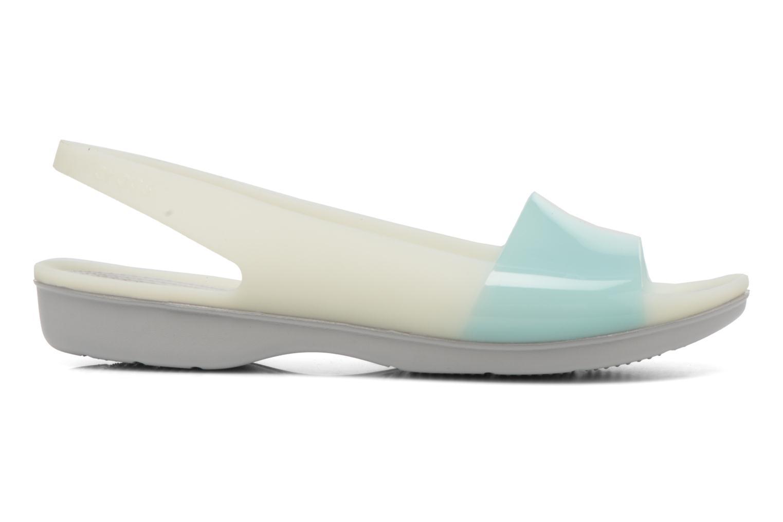 Sandales et nu-pieds Crocs ColorBlock Flat W Bleu vue derrière