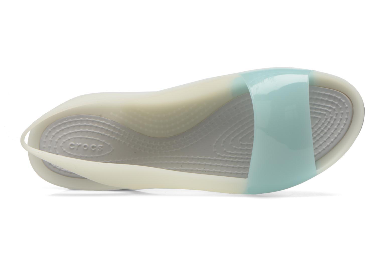 Sandales et nu-pieds Crocs ColorBlock Flat W Bleu vue gauche