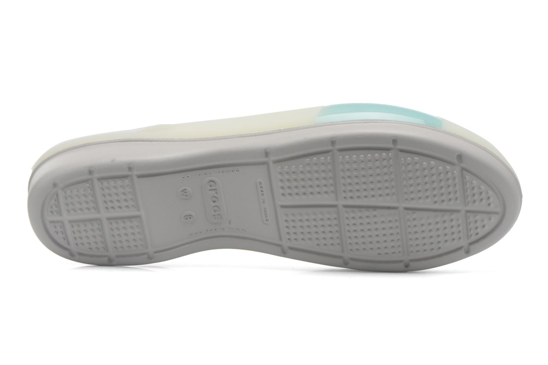 Sandales et nu-pieds Crocs ColorBlock Flat W Bleu vue haut