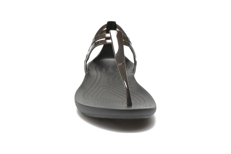 Sandales et nu-pieds Crocs Crocs Isabella T-strap Noir vue portées chaussures