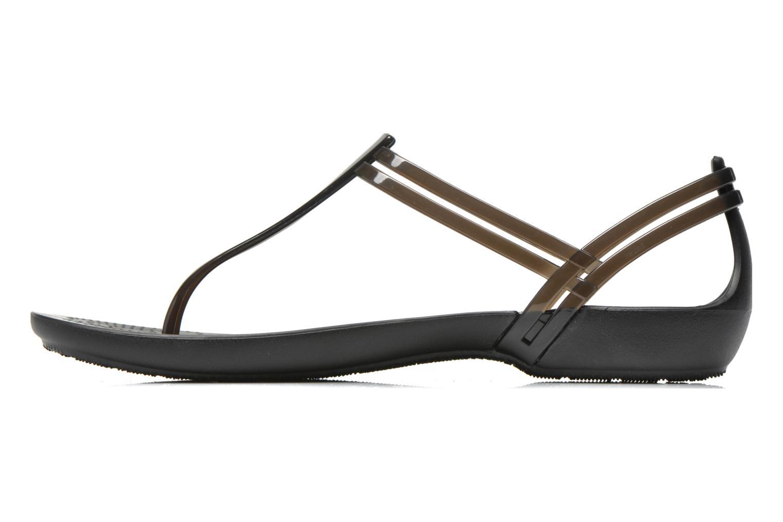 Sandales et nu-pieds Crocs Crocs Isabella T-strap Noir vue face