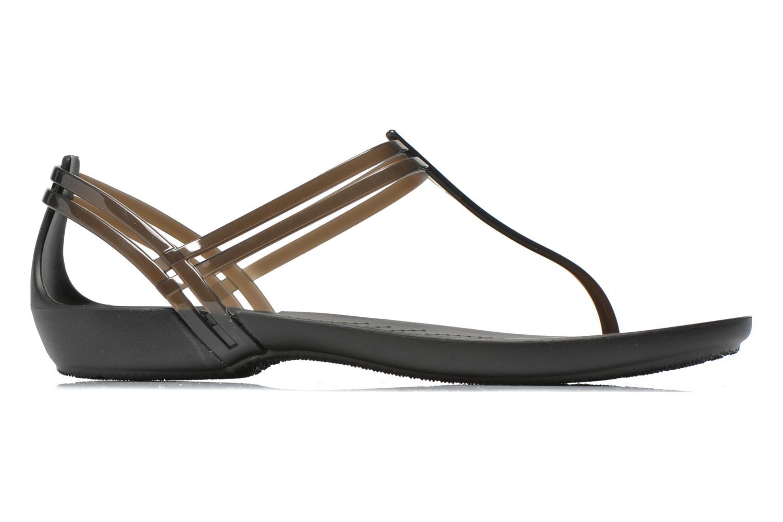 Sandales et nu-pieds Crocs Crocs Isabella T-strap Noir vue derrière