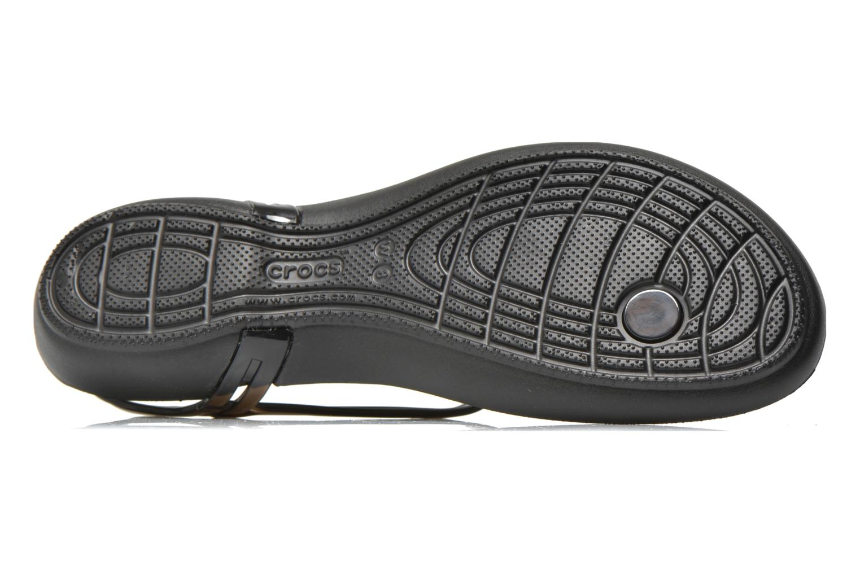 Sandales et nu-pieds Crocs Crocs Isabella T-strap Noir vue haut