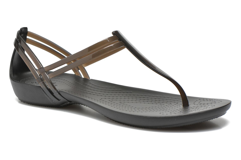 Sandales et nu-pieds Crocs Crocs Isabella T-strap Noir vue détail/paire