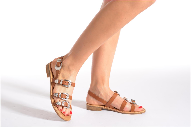 Sandalen Made by SARENZA Tennessee Sister #5 braun ansicht von unten / tasche getragen