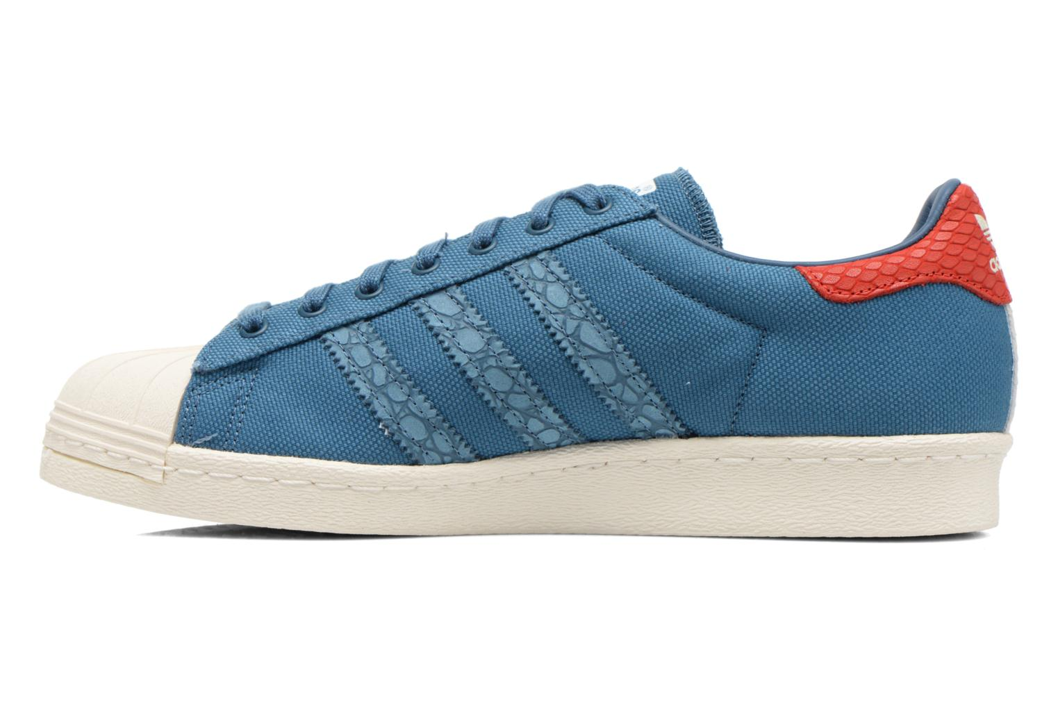 Baskets Adidas Originals Superstar 80S Animal Bleu vue face