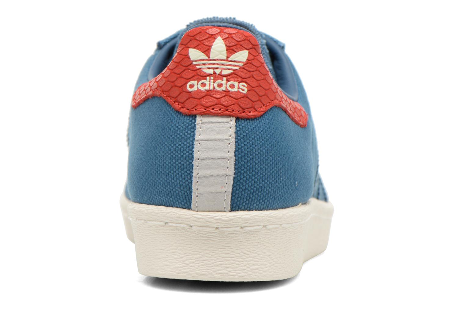 Baskets Adidas Originals Superstar 80S Animal Bleu vue droite