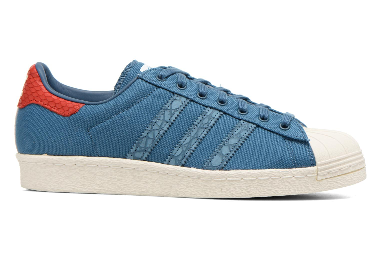 Baskets Adidas Originals Superstar 80S Animal Bleu vue derrière