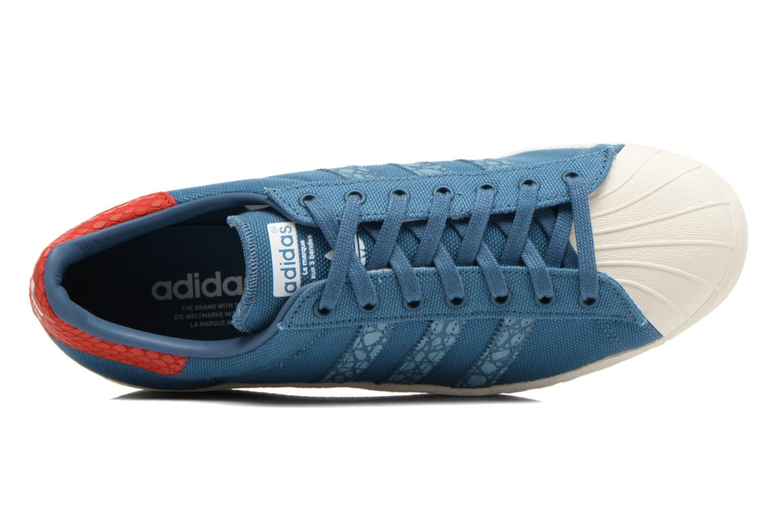 Baskets Adidas Originals Superstar 80S Animal Bleu vue gauche