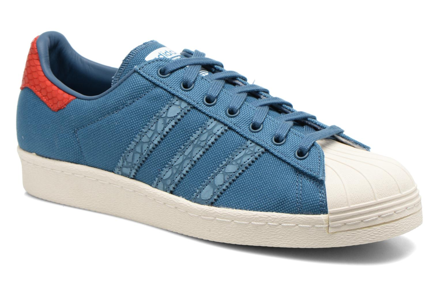 Baskets Adidas Originals Superstar 80S Animal Bleu vue détail/paire