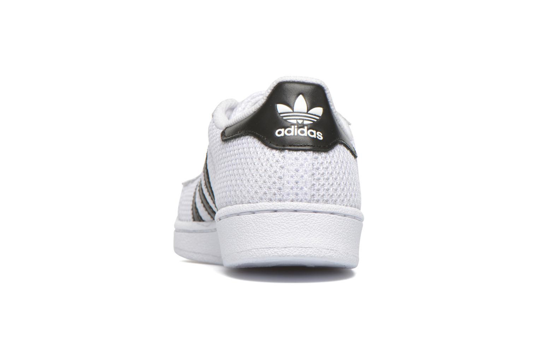 Baskets Adidas Originals superstar CF C Blanc vue droite