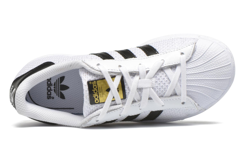 Baskets Adidas Originals superstar CF C Blanc vue gauche