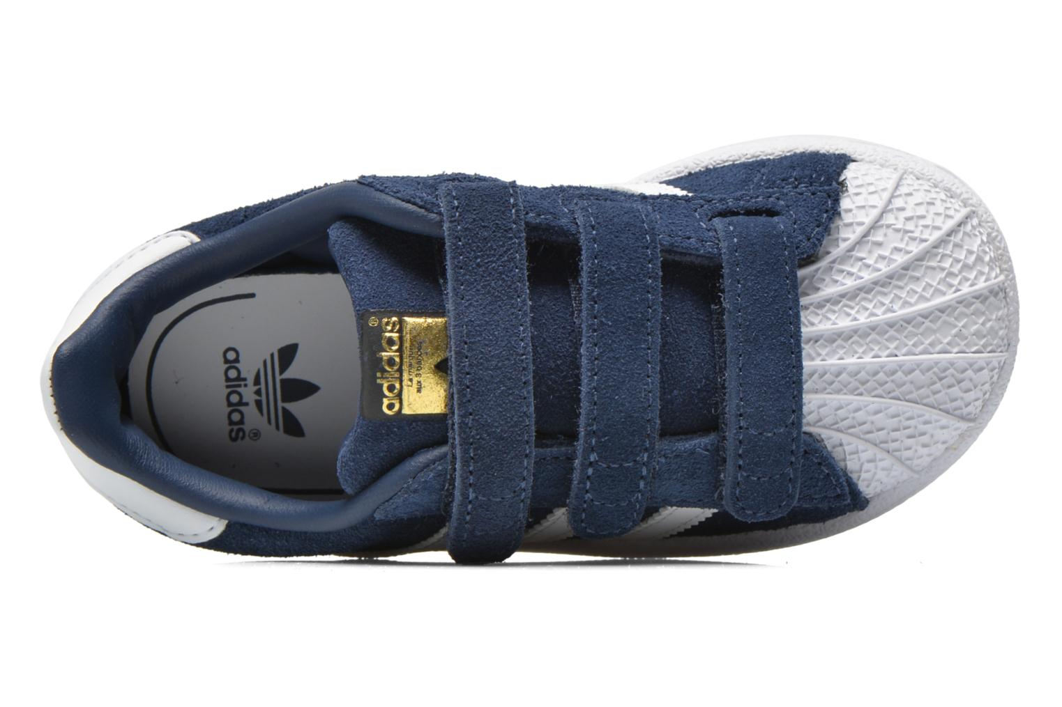Trainers Adidas Originals Superstar CF I Blue view from the left