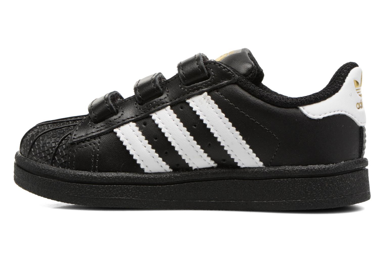 Sneaker Adidas Originals Superstar CF I schwarz ansicht von vorne