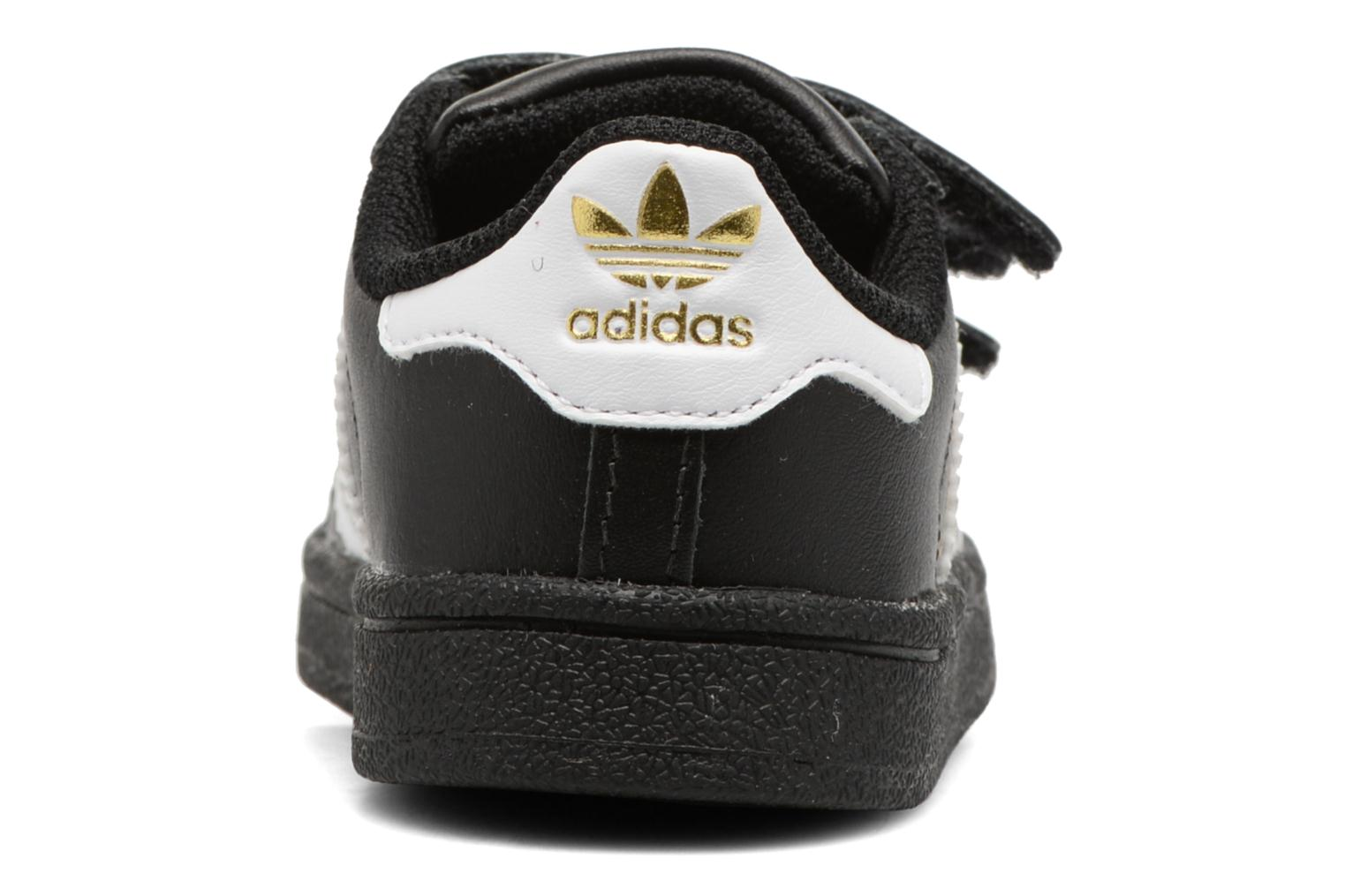 Trainers Adidas Originals Superstar CF I Black view from the right