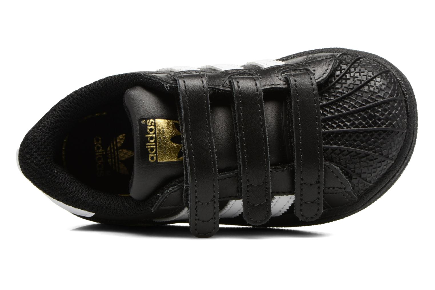 Trainers Adidas Originals Superstar CF I Black view from the left