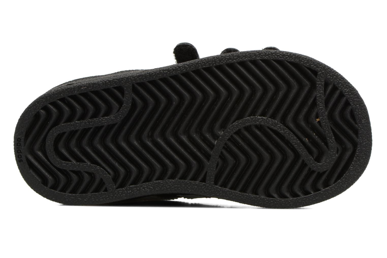 Sneaker Adidas Originals Superstar CF I schwarz ansicht von oben