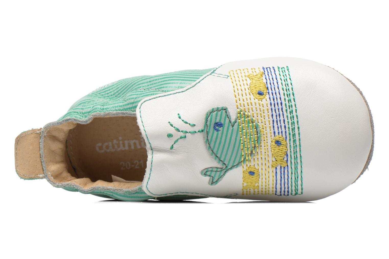 Pantofole Catimini Cassin Bianco immagine sinistra