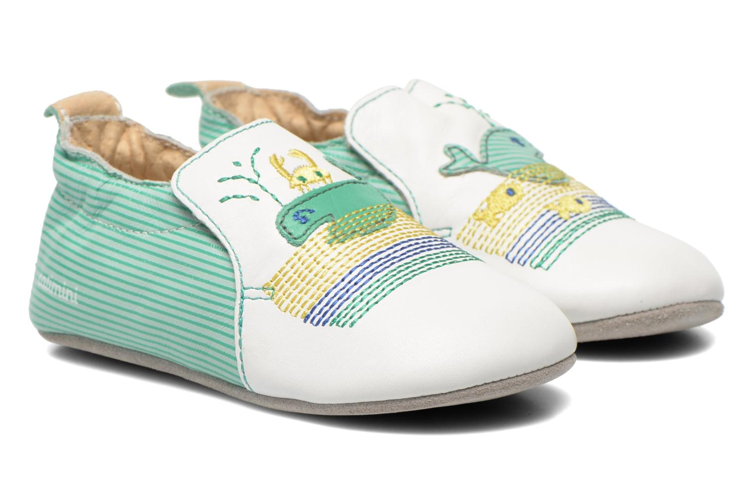 Slippers Catimini Cassin White detailed view/ Pair view