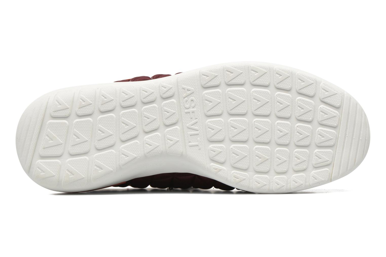 Trainers Asfvlt Speed Socks W Burgundy view from above