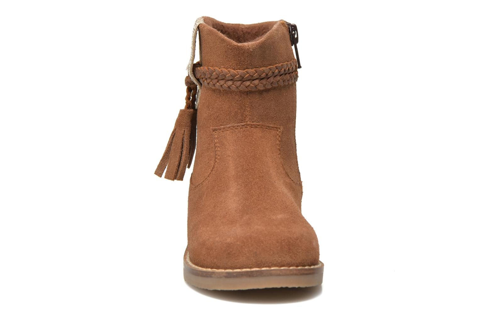 Ankle boots I Love Shoes KERRIES Leather Brown model view