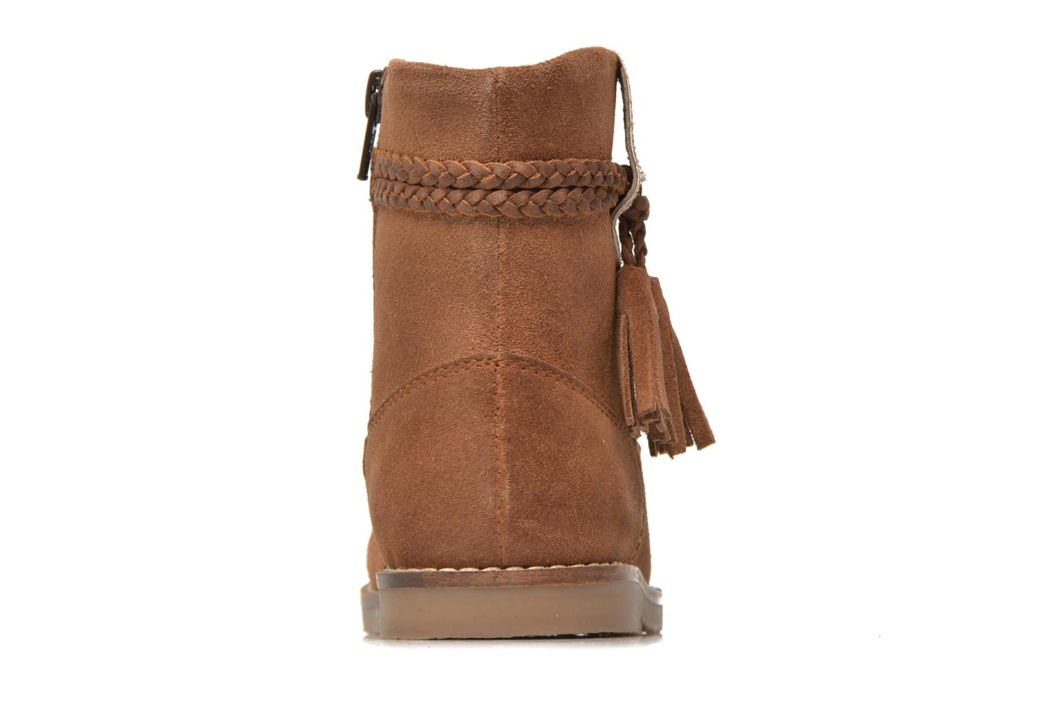 KERRIES Leather tan cow split suede 8 with glitter