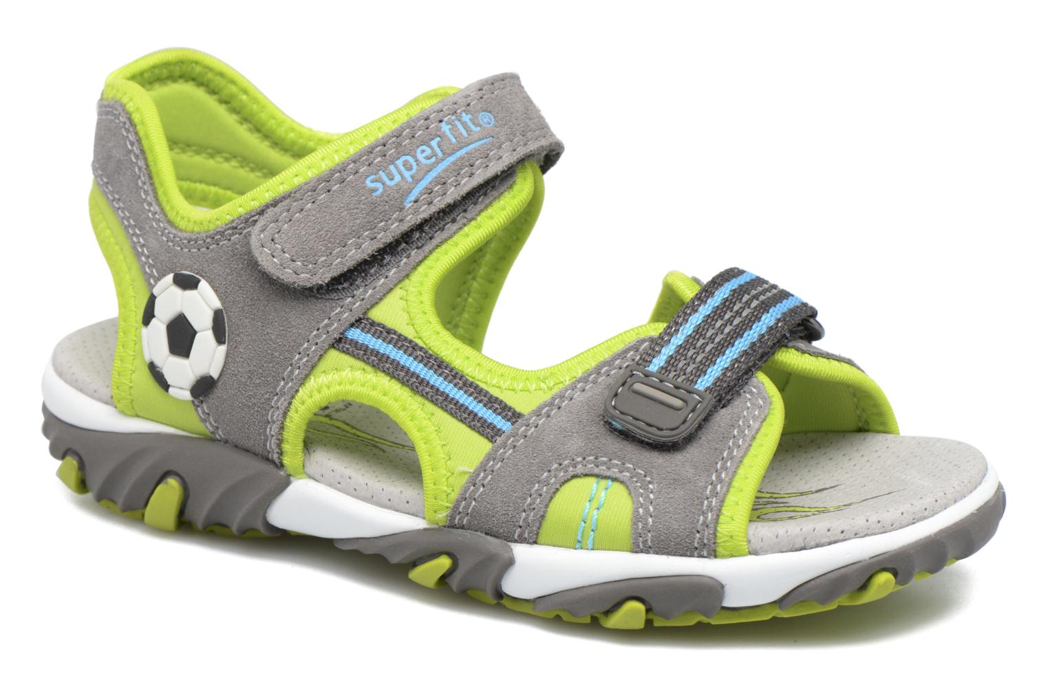 Sandals Superfit Mike 2 Green detailed view/ Pair view